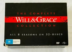 THE COMPLETE WILL & GRACE COLLECTION DVD 32 Disc Set Region 4 2008 A3