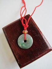 100% Natural Type A Jadeite Jade mini donut pendant C00048