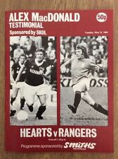 Testimonial Football Scottish Fixture Programmes (1980s)