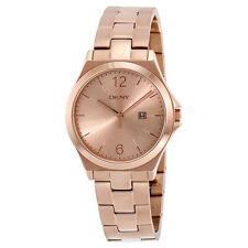 DKNY Parsons Rose Gold Dial Rose Gold-tone Ladies Watch NY2367