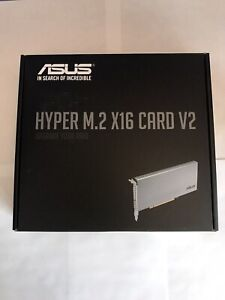 ASUS Hyper M.2 X16 PCIe 3.0 X4 Expansion Card V2 FREE FAST SHIPPING!!!
