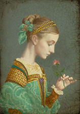 James Christensen FIRST ROSE, Smallworks Giclee Canvas, ARTIST PROOF A/P#35/35
