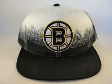Boston Bruins NHL Vintage Snapback Hat Cap Ivory Black