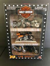 VINTAGE MAISTO HARLEY DAVIDSON DIECAST 1 18 COLLECTION MOTORCYCLES