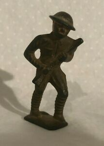 Grey Iron Cast Iron Toy Soldier 1920s Barclay Manoil