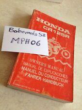 Manuel propriétaire Honda CR125R CR125 R CR 125 cross édition 1985