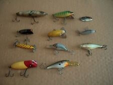 11 Preowned Fishing Lures Lot Rapala Heddon Bomber Cotton Cordell Some Vintage
