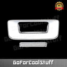 For 07 08 09 10 11 12 13 Chevy Silverado Gmc Sierra Chrome Tailgate Cover W/ Kh
