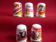 Set of 5 Hollywood Classics Dracula,Marx,Wizard of Oz, (Gold Gilded) Thimbles