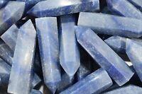 "Blue Quartz Wand 2 3/4"" Healing Crystals and Stones Throat Chakra Rough Natural"