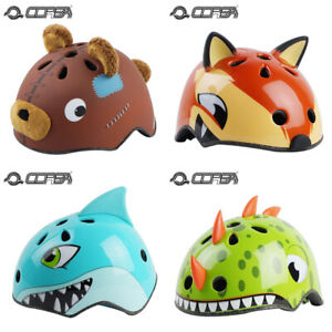 Kids Boys Cartoon Bike Helmet Children Cycling Riding Skating Safety Bicycle