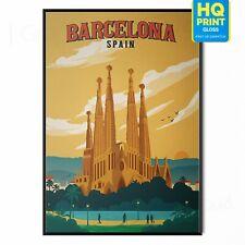 Vintage RETRO BARCELONA SPAIN Travel Poster Print Art Tourism Holiday Home Decor
