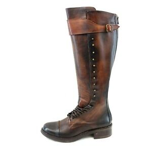 AREA FORTE Damen Schuhe Stiefel Damenstiefel Leder Braun Cognac Gr 42 Np 419 Neu