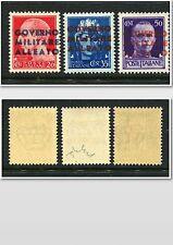 NAPLES NAPOLI ALLIED OCCUPATION 1943 MNH Set (3) one signed Chiavarello EURO 35