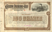 1895 Choctaw Oklahoma and Gulf Railroad Company stock certificate share