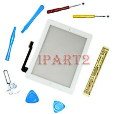 Front Touch Screen Glass Digitizer+ Home Button Assembly for iPad 3 White +Tools