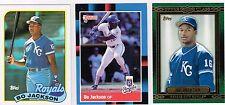 1988/1989/2014 bo jackson 3 card lot. donruss,fleer,topps.