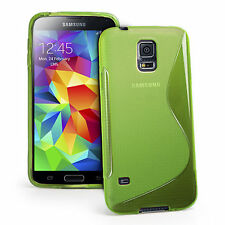 S-Line Case Gel Rubber TPU Wave Skin Cover For Samsung Galaxy S5 SV G900 G900H