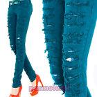 pantalon stretch élastique coupes dentelle SKINNY jeans X2826A-1