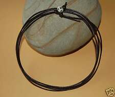 Layered/Wrap/cuff/Bracelet Simple Brown Surf Leather Necklace Bone Holding Bead