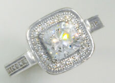 Imitation Moissanite Simulant Ss Size 10 1.5 ct Square Halo Russian Quality Cz