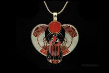 PENDENTIF SCARABEE AILE + CHAINE PORTE BONHEUR EGYPTE-Bijoux egyptien-8934
