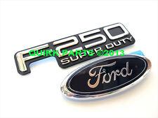 1999-2004 Ford F-250 Super Duty & Blue Ford Oval Tailgate Emblems 2 Set OEM NEW