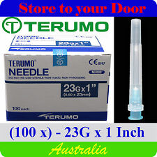 (100) 23G x 1 inch Terumo Needles / Medical Hypodermic Syringe Tips - Sharps