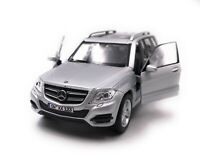Mercedes Benz Model Car with Desired License Plate GLK SUV Silver Scale 1:3 4-39