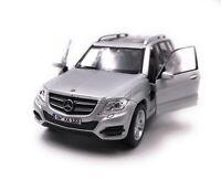 Mercedes Benz Modellauto mit Wunschkennzeichen GLK SUV Silber Maßstab 1:34-39