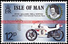 WILLIAMS Peter NORTON 750 International Formula Race Isle of MAN 73 Timbre Moto