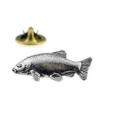 Tench fish fishing English Pewter Lapel Pin Badge XTSPBF18