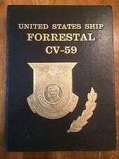 1982 U.S. SHIP FORRESTAL CV-59 YEARBOOK (RARE) Mediterranean deployed