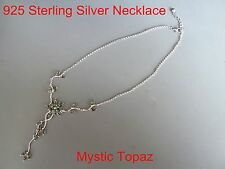 100% 925 Sterling silver Necklace, natural stone necklace*Mystic Topaz*OZ Seller