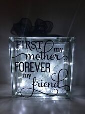 Personalised/Non Personalised Decorative Birthday, Mothers Day, Glass Blocks