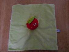 DOUDOU plat carré tomate rouge P'TIT petit DODO vert violet fraise