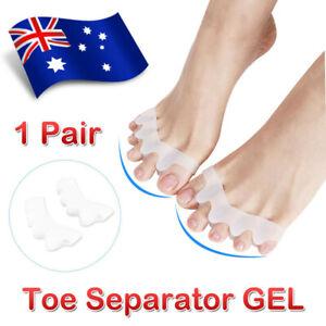Silicone Gel Bunion Corrector Toe Separator Spreader Pain Relief Hallux Valgus
