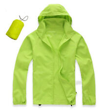 Men Women Waterproof Windproof Jacket Outdoor Bicycle Sports Rain Coat FAS Green M