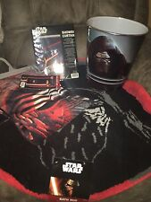 Star Wars Disney Force Awakens Shower Curtain Rug Set Bathroom Kylo Ren New 4pc