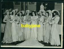 DEANNA DURBIN VINTAGE 4X6 PHOTO 1941 W/ BRIDESMAIDS AT HER WEDDING