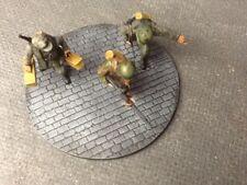 BASI di resina dipinto 60mm x 3 Cobble Street, bullone azione armi pesanti COMANDO