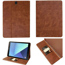 LUXURY Custodia Protettiva Samsung Galaxy Tab s2 Tablet Borsa Cover Case Stand Marrone