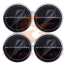 2020 C8 Corvette Genuine GM Black Center Cap Stingray Logo Set Of 4 84385015