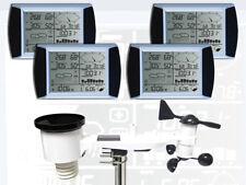 WH1080 SE QUATTRO (4 Displays) Profi Funk Wetterstation Solar (Neuer Außenmast)