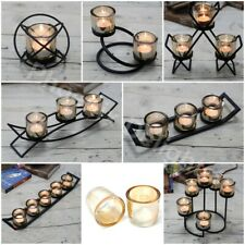 Votive Tealight Candle Holder Iron Centrepiece 1 to 6 Cups & 7 Designs Ornament
