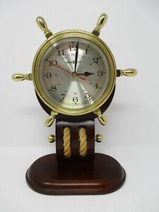 Howard Miller Britannia Table Clock 613-467 Weather & Maritime Solid Brass