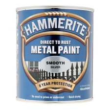 Hammerite Smooth Silver Metal Paint 250ml
