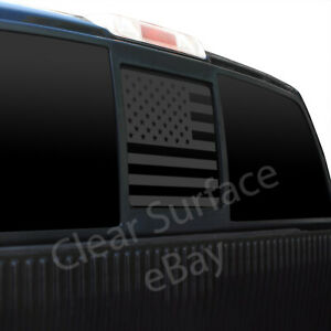 Fits Ford F150 2004-2014 Rear Back Middle Window American Flag Decal Sticker