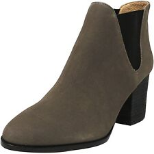 G.I.L.I Leather Chelsea Boots - Baldwyn Stonewall Gray Booties Women's Size 7