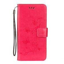 Lotus Billetera Cuero Estuche Flip con Soporte Funda Protectora De Teléfono Para Samsung LG HUAWEI P20